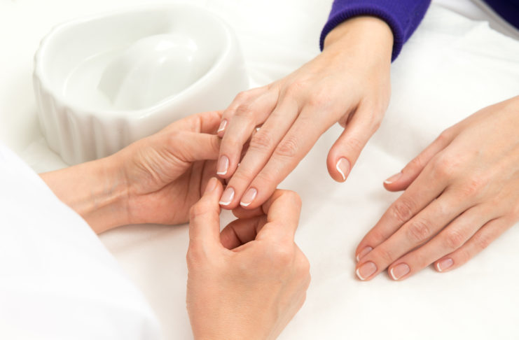 French Manicure process
